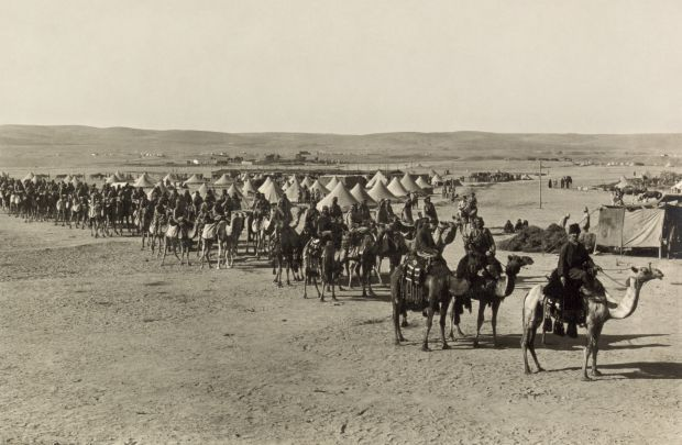 The camel corps at Beersheba PD