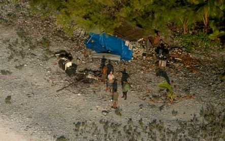 Four men were found marooned on Manuae Island.