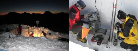 Ice core drilling set-up