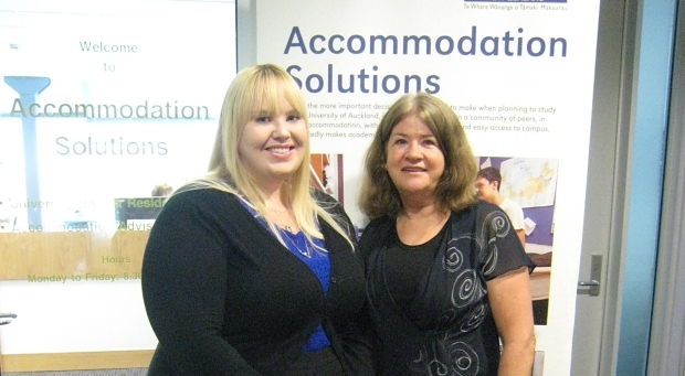 Tara Brewer and Dianne Perry from The University of Auckland s Accommodation Services team