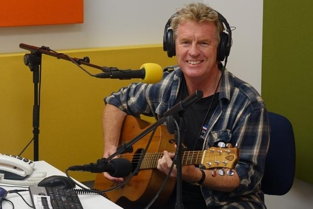 Don McGlashan in the Radio NZ studio.