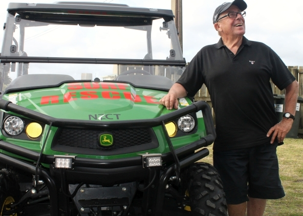 Port Waikato Malcolm Beattie and brand new rescue buggy