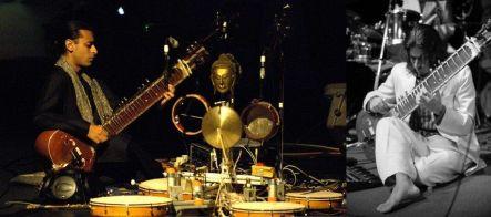 Ajay Kapur playing sitar and MahaDeviBot