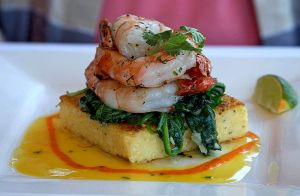 Shrimp with polenta