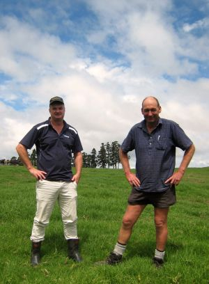 Peter Foote and fertiliser manager Russell Plank