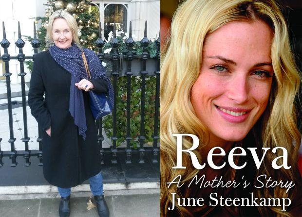 June Steenkamp and book cover