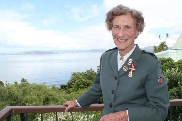 Margaret Rankine at her home in York Bay overlooking Wellington Harbour
