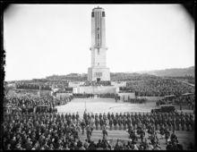 Dedication of National War Memorial Carillon Wellington