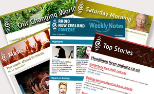 Selection of RNZ email newsletters