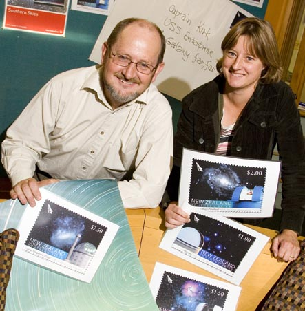 University of Canterbury astronomers Peter Cottrell and Karen Pollard
