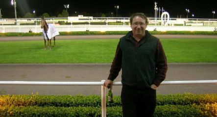 Philip O'Connor at the racetrack