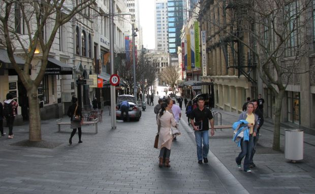 Auckland's Elliot Street shared space