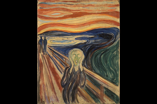Edvard Munch The Scream in tempera on cardboard