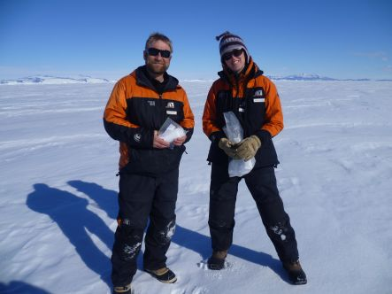 Cliff Atkins and Jane Chewings in Antarctica