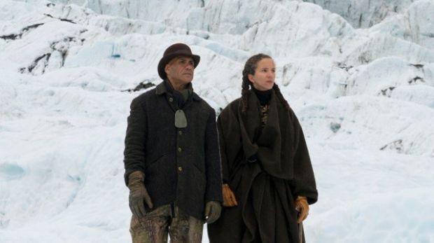 Jeff Mahuika and Sasha Huber after the karakia symbolically unnaming the Agassiz Glacier Photo by Tom Hoyle