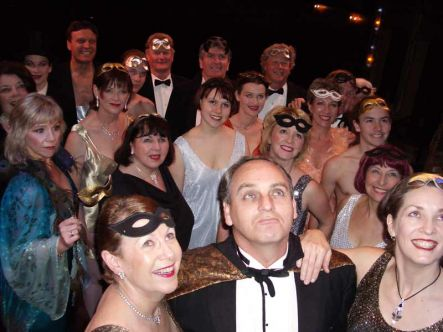Greg Patel and the chorus of last year's Opera Hawke's Bay production