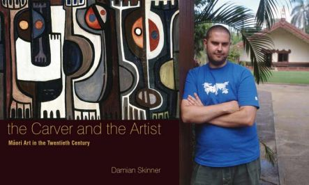 Damian Skinner and the Cover art of his book.