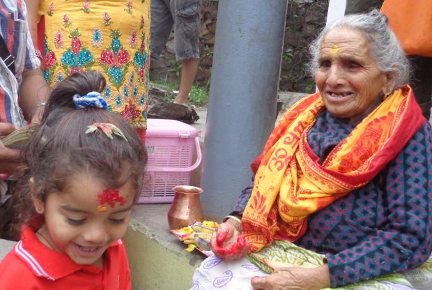 Kharika and her grand daughter