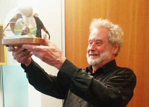 Jack Perkins at his retirement fuction at Radio NZ House Wellington August