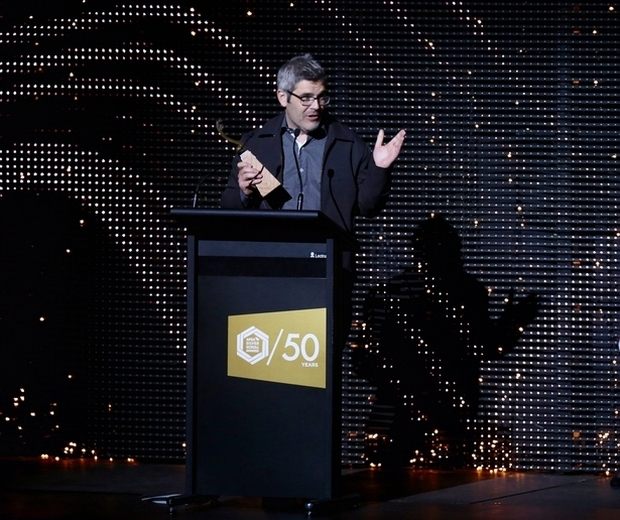 Chris Watson is given the SOUNZ Award at the Silver Scrolls Photo RNZ Alexander Robertson