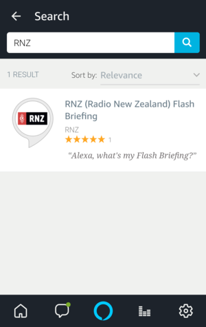 search for RNZ skill