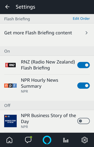 edit RNZ Flash Briefing order