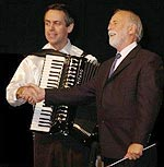 CIA President and New York-based accordionist Kevin Friedrich (left) with composer Gary Daverne