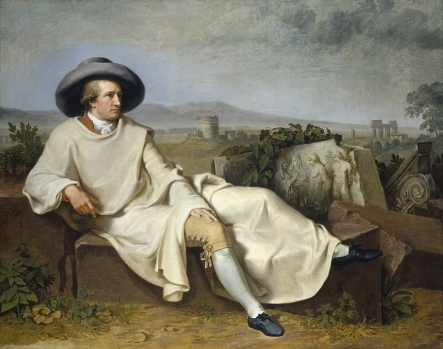 Goethe in der r�mischen Campagna (Goethe in the Roman Campagna), 1786–87, by Johann H W Tischbein (1751–1829), oil on canvas. Reproduced courtesy St�del Museum, Frankfurt.