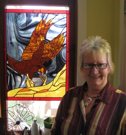 Stained Glass artist Ginny O'Dea.