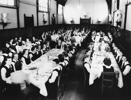Wanganui Girls College Dining Room, c1950
