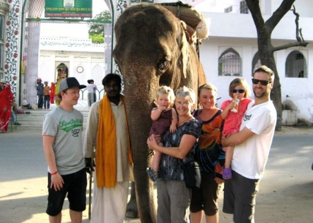 The whole family in Udaipur my mother and brother came with us too
