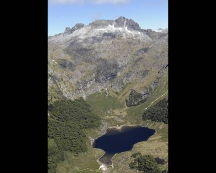 Mt Pickering in the Kepler Mountain Range in Fiordland