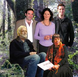 The five composers in SOUNZtender, immaculately photoshopped together.