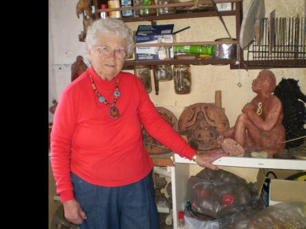 Franki Wood in her workshop small