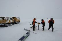Drilling the sea ice
