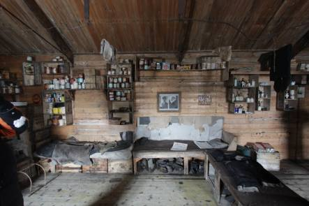 Inside Shackleton s Nimrod Hut at Cape Royds