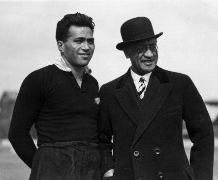 George Nepia and Kingi Te Ahoaho Tahiwi b