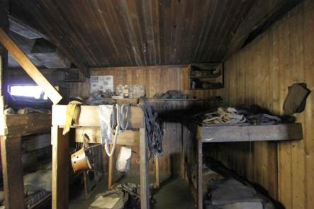 sleeping quarters inside Scott s hut at Cape Evans