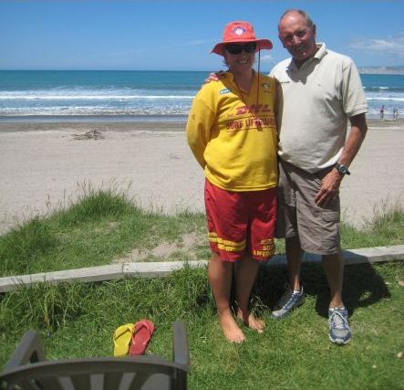 Lifesaving Dennis Rocky Hall and fellow lifesaver Jessica small