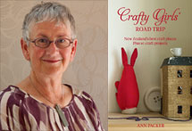 Ann Packer and the cover of Crafty Girls Road Trip