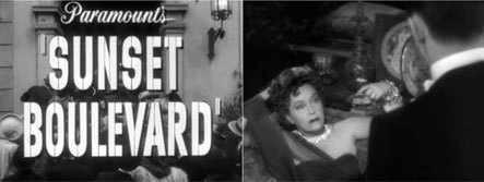 Stills from Sunset Boulevard