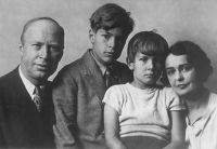 Prokofiev with his family in 1936