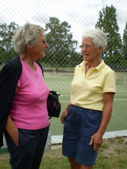 Tennis April Betty Angus left and Diana Kittow both from Hawke s Bay small