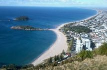 View of Mount Maunganui beach