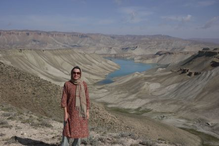 Bamyan July Marianne Elliott at the head of Band i Amir small