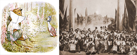 Jemima Puddleduck; Gilbert and Sullivan's The Gondoliers in 1907