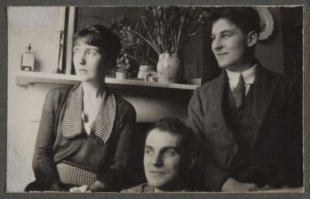 From right, Katherine, John Middleton Murry and his brother Richard [date unknown]
