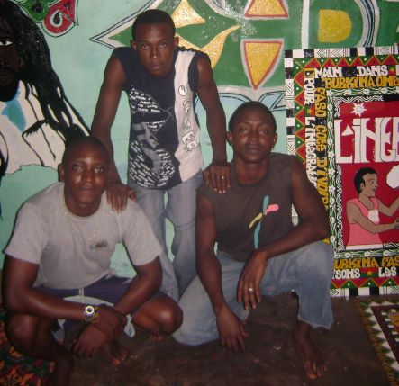 Local rapper Clemson and friends in Bobo Dioulasso Burkina Faso