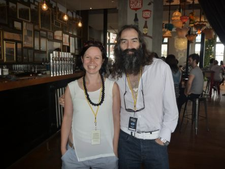 Kirsten Johnstone with Warren Ellis from the Dirty Three