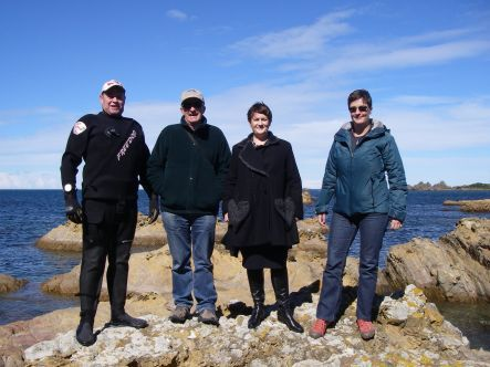 Trustees from the Friends of Taputeranga Marine Reserve